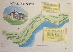 Royal Dornoch Golf course print