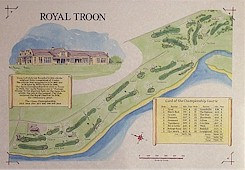 Troon golf course print